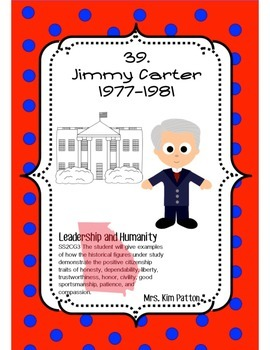 President Jimmy Carter Unit SS2H1 Freebie Georgia Historical Figures