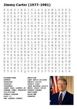 President Jimmy Carter Word Search