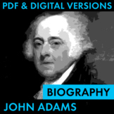 President John Adams Biography Research Organizer, Easy Bi