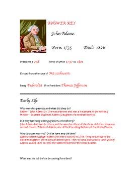 President John Adams Research Activity