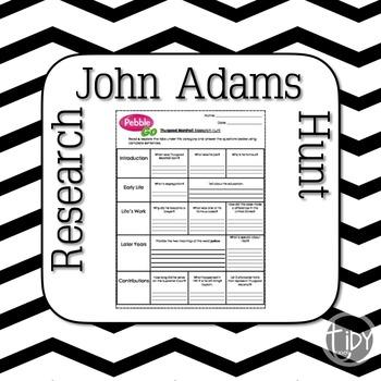 President John Adams Research Hunt