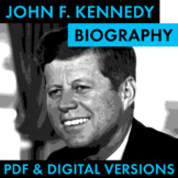 President John F. Kennedy Biography Research Organizer, Ea