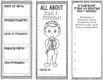 President John F. Kennedy - Biography Research Project - Interactive Notebook