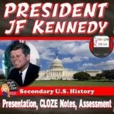 JFK | John F Kennedy Presidency | Lecture | Speech Analysis | Print & Digital