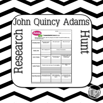 President John Quincy Adams Research Hunt