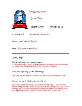 President John Tyler Research Activity