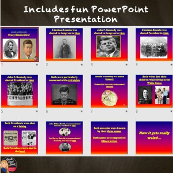 President Lincoln & Kennedy Crazy Similarities Power Point
