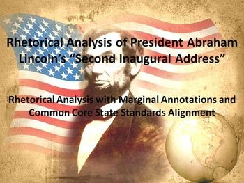 "President Lincoln's ""Second Inaugural Address"" Common Core"