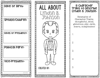 President Lyndon B. Johnson - Biography Research Project - Interactive Notebook