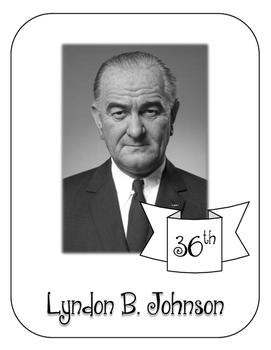 President Lyndon B. Johnson Lapbook and Interactive   Notebook