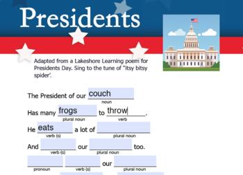 President Mad Lib  (interactive pdf, Google Slide, & printable)