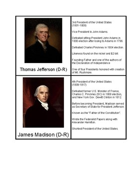 President Matching Game