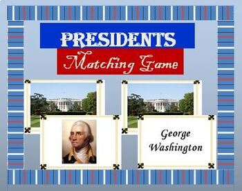 Presidents Matching Game - Short Edition