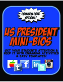 President Mini Biography Activities & Graphic Organizers