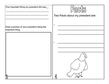 President Mini Biography Book