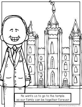 President Nelson coloring book - Printable - LDS - Melonheadz clipart