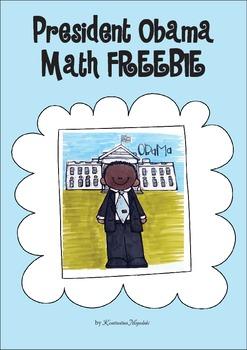 President Obama Math - Addition Freebie