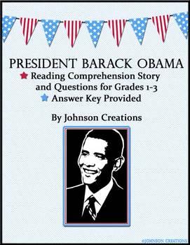 President Obama Reading Comprehension Story