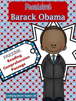 Presidents' Day FREE President Obama Reading Comprehension
