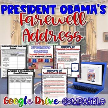 President Obama's Farewell Address {Digital AND PDF}