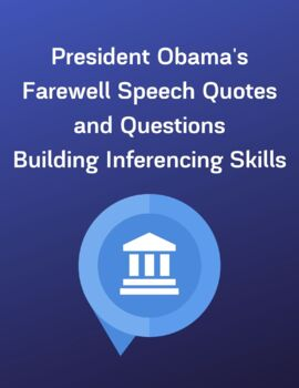 President Obama's Farewell Speech Quotes and Questions-Inference Skills