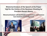President Obama's Sandy Hook Elementary School Prayer Vigil Rhetorical Analysis