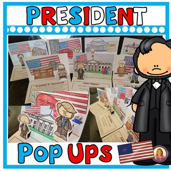 President Pop Ups! (Presidents Reading or Writing Pop Up Cards) Presidents Day