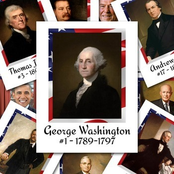 President Posters - Includes all 45 Presidents