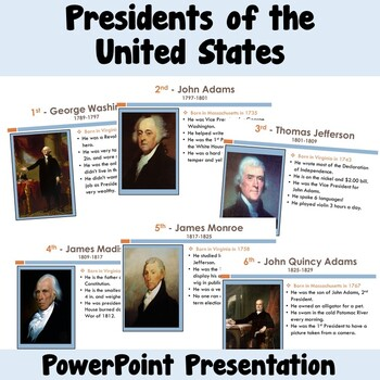 President Facts in a PowerPoint Presentation