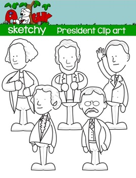 President / Presidents Day Fun Clipart Graphics - 300dpi