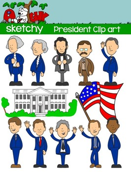 President / Presidents Day Fun Clipart Graphics - 300dpi