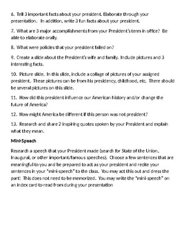 President Project-Grade 5
