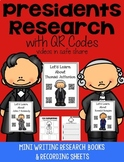 President QR Code Research with Comprehension Writing Pages
