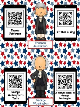 President QR Codes: 20 Patriotic Stories for Daily Five Listen to Reading