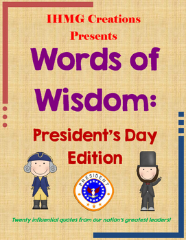Words of Wisdom: President's Day Edition (Common Core)