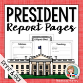 President Report Notebooking Pages