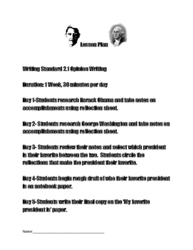 President Reports Opinion Writing