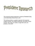 President Research Graphic Organizer Write