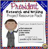 President Research Pack {Library Lesson Plan, Writing Process, 3rd-5th}