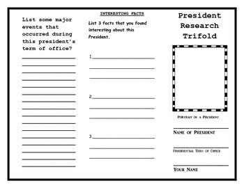 President Research Trifold