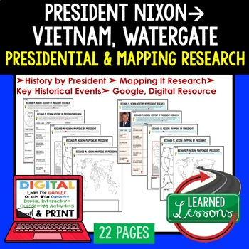 President Richard M. Nixon Research & Mapping Print and Digital Google