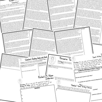 President Richard Nixon Checkers Speech Analysis & Writing Activity