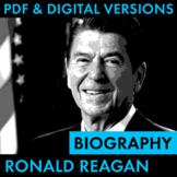 President Ronald Reagan Biography Research Organizer, Easy