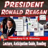 President Reagan | Power Point Lecture & Reaganomics Reading | Print & Digital