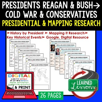 President Ronald Reagan and Bush Research & Mapping Print and Digital Google