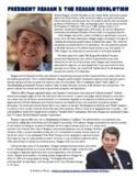 President Ronald Reagan and the Reagan Revolution Reading Worksheet