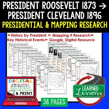 President Roosevelt, President Taft Research & Mapping Print and Digital Google