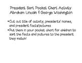 President Sort Pocket Chart/Center: Abraham Lincoln & Geor