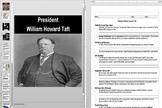 President Taft to President Wilson's Election in 1912 Powerpoint & Worksheet