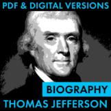 President Thomas Jefferson Biography Research Organizer, E